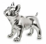 Figurka stříbrný buldok stojící