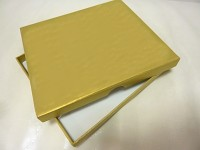 Krabička 20 x 15 x 2 cm  -  na DVD a fotky - zlatá