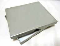 Krabička 20 x 15 x 2 cm  -  na DVD a fotky - stříbrná