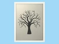 Svatební strom hostů II. - bílý rám - 44 x 54 cm