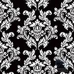 Ubrousky - černé s bílým ornamentem