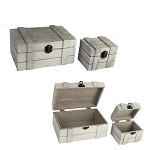 Dřevěná krabička s puntíky - love