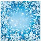 Ubrousky - zimní domečky bílo-modré