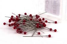 Špendlíky  - červená hlavička 100ks