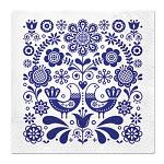 Ubrousky - modré květy  - 20ks