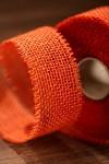 Stuha jutová 50 mm - oranžová - 1m