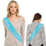 Svatební šerpa pro nevěstu - Budu se vdávat - tyrkys