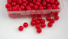 Korálky perličky - červené 8mm - 144ks
