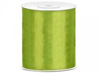 Stuha satén 100 mm - zelená - 1m