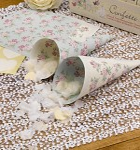 Papírový kornout na plátky růží - 10ks - vintage
