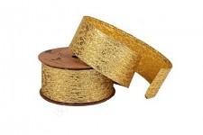 Stuha metalická zlatá - 4cm - 4,6m