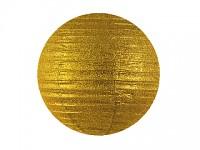 Lampion kulatý brokátový 20 cm - zlatý