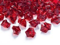 Akrylové krystaly - červené - 50 ks