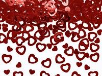 Konfety srdce - lesklé červené duté
