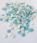 Cukrové vločky bílo-modré - 40g