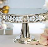 Etažér stříbrný s diamanty a zrcadlem - vysoký - půjčovna