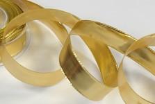 Stuha zlatá - lesklá - 25mm/1m