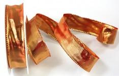 Stuha červená - lesklá - 25mm/1m