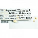 Obálka na peníze (voucher) - BÍLÁ s vánočními nápisy