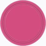 Party papírové talířky - tm.růžové KULATÉ 17,7CM - 8KS