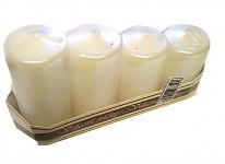 Adventní svíce - postupné - bílé metalické