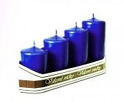 Adventní svíce - postupné - tm.modré metalické