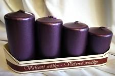 Adventní svíce - postupné - tm.fialové metalické