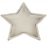 Hvězda podnos bílý - 17 cm