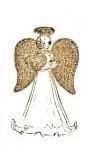 Skleněný anděl se zlatými křídly