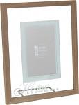 Fotorámeček dřevěný se sklem - HOME