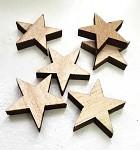 Dřevěná hvězdička 3 cm  - natur - 1ks
