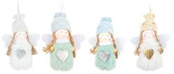 Anděl pletený 6 cm - červený/bílý - 1ks