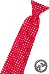 Kravata chlapecká - červená s puntíky