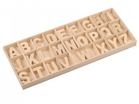 Dřevěná písmenka natur - abeceda