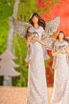 Anděl glitter 24cm - s holubicí