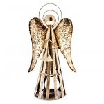 Svícen antik - anděl trubač 35cm