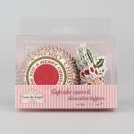 Cukrářské košíčky - cupcakes merry christmas + zápich 24ks