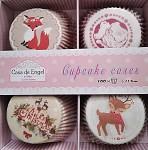 Cukrářské košíčky - cupcakes s liškou a sobem - 100ks