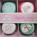 Cukrářské košíčky - cupcakes pastelové zimní  - 100ks