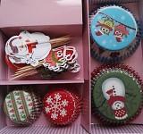 Cukrářské košíčky cupcakes - mix velikostí se zápichy