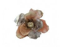 Květ magnolie starorůžový velký - glitr