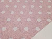 Imitace juty - sv.růžová s puntíky a glitry - 1m