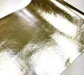 Metalická tkanina - zlatá 34cm / 1m