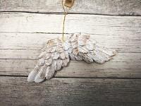 Závěsná křídla zlatá mini - 1ks