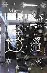Samolepicí nálepky do okna - Merry Christmas sněhuláci