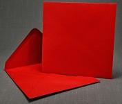 Obálka barevná čtverec 155 mm- červená