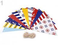 Girlanda vlajky - námořnické vzory