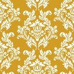 Ubrousky - zlato-bílý  ornament
