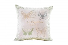 Polštář jarní zátiší s motýly - vintage