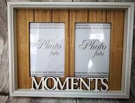 Dřevěný fotorámeček - moments